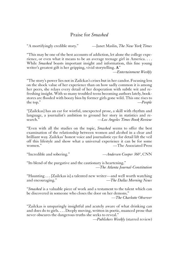 Koren Zailckas - Smashed - Trade Paperback