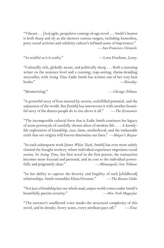 Swing Time | Penguin Random House International Sales