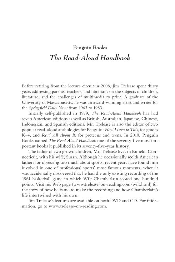 The read aloud handbook penguin random house education additional formats the read aloud handbook the read aloud handbook seventh edition fandeluxe Image collections