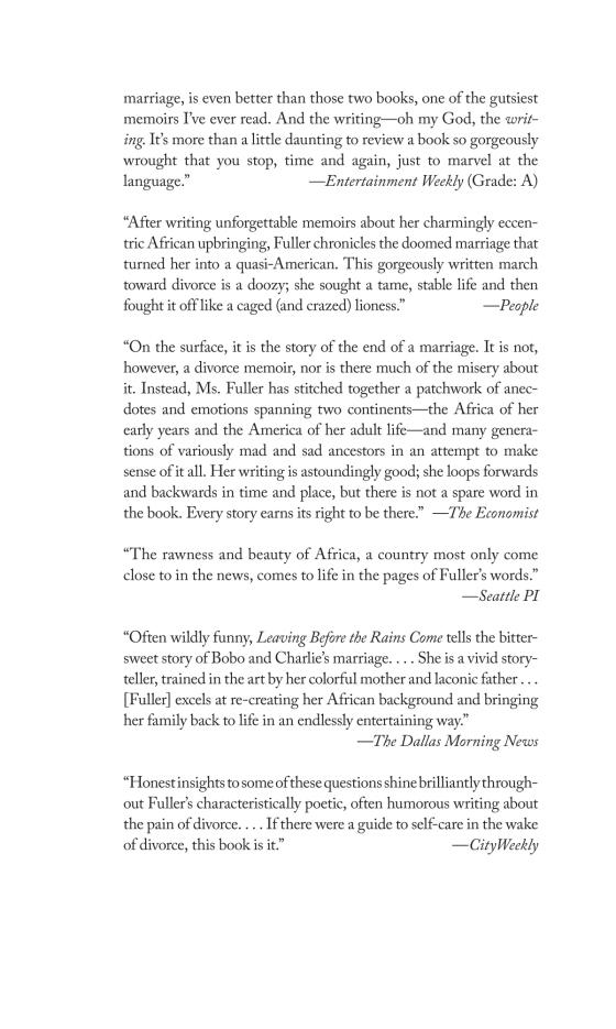 Leaving Before the Rains Come - Penguin Random House Education