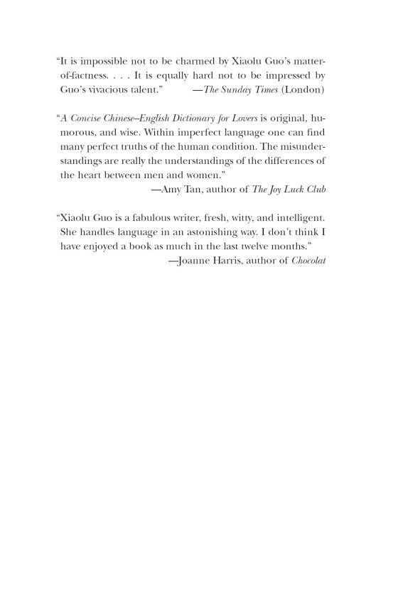A Concise Chinese-English Dictionary for Lovers - Penguin Random