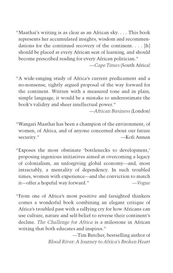 The Challenge for Africa - Penguin Random House Education