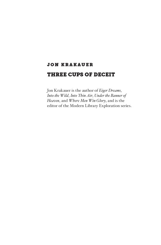 jon krakauer   three cups of deceit   trade paperback page  of