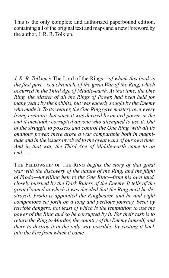 The Fellowship of the Ring - Penguin Random House Education
