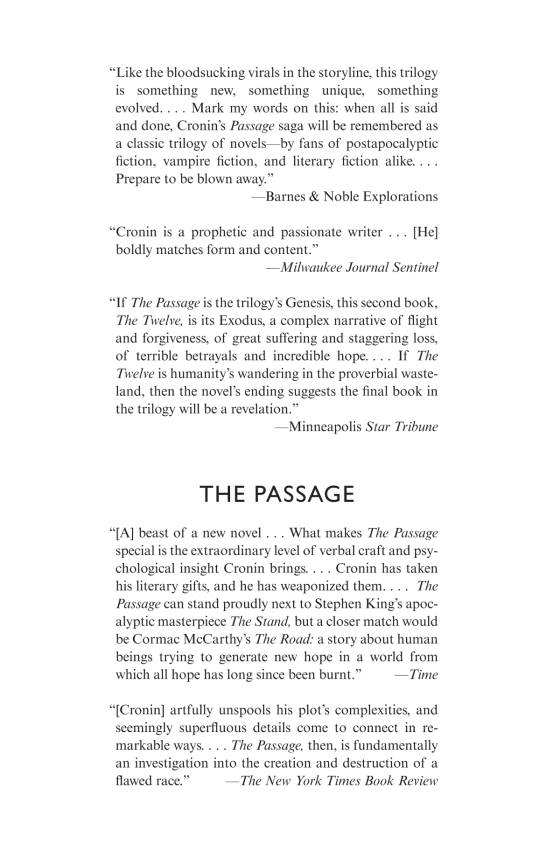 The Twelve Book Two Of The Passage Trilogy Penguin Random House