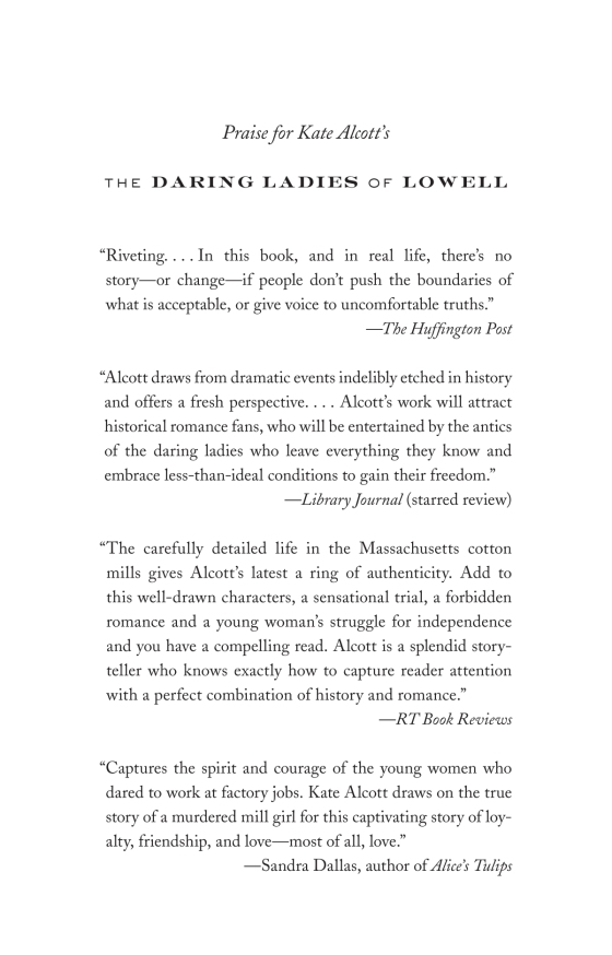 Kate Alcott - The Daring Ladies of Lowell - Trade Paperback