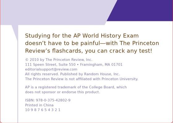 Essential AP World History - The Princeton Review | Random