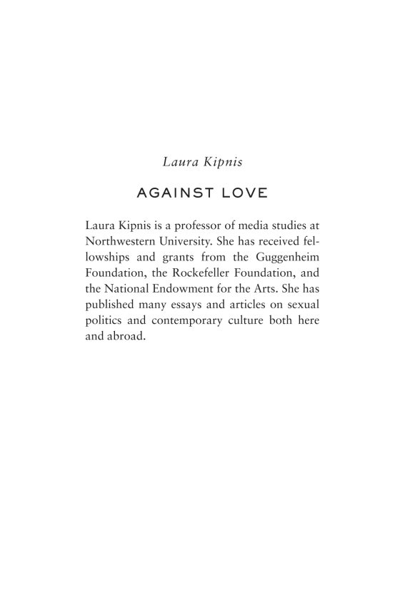Against Love - Penguin Random House Education