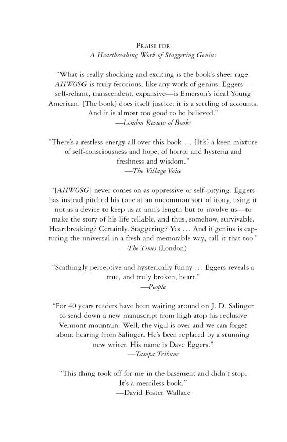 A Heartbreaking Work of Staggering Genius | Penguin Random