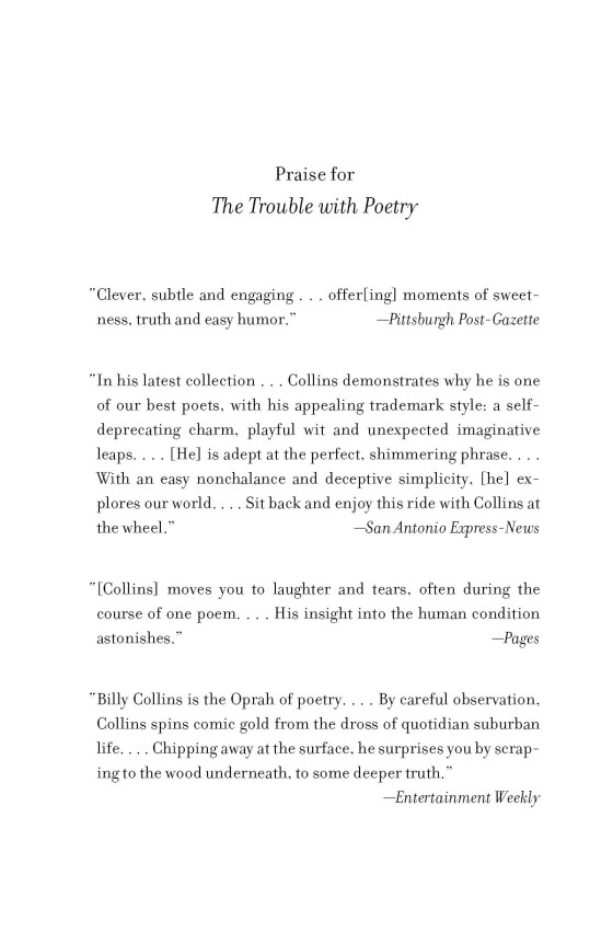 The Trouble With Poetry Penguin Random House International