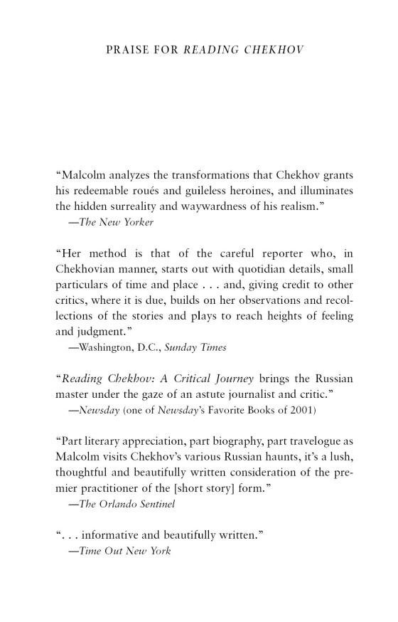A Critical Journey Reading Chekhov