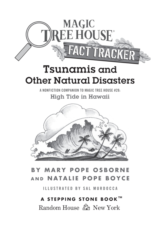 Tsunamis And Other Natural Disasters Magic Tree House R Fact