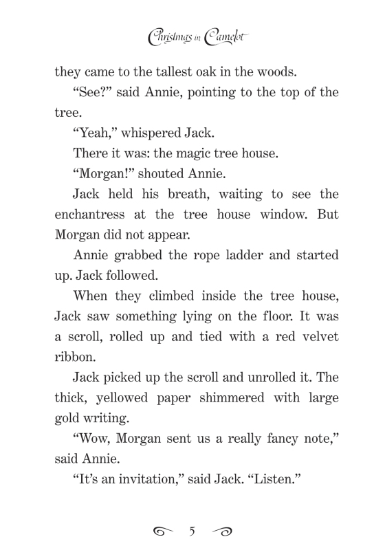... MagicTreeHouse.com! Read a Sample - Christmas In Camelot Magic Tree House (R) Merlin Mission Magic