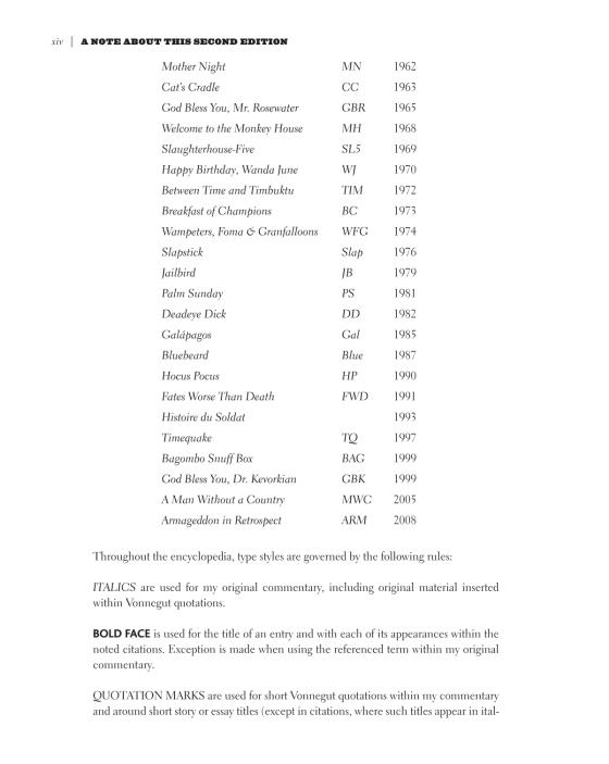 The Vonnegut Encyclopedia Penguin Random House Education