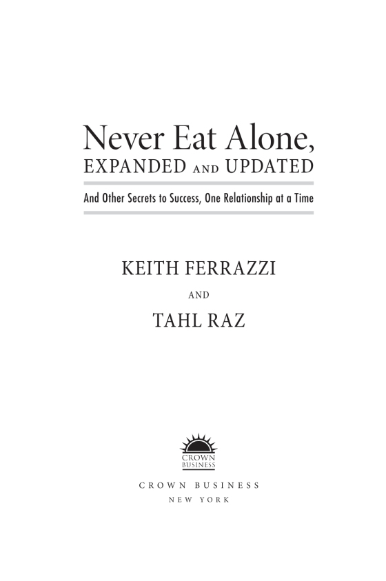 Never eat alone expanded and updated penguin random house education fandeluxe Choice Image