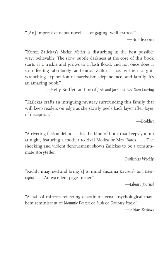 Koren Zailckas - Mother, Mother - Trade Paperback