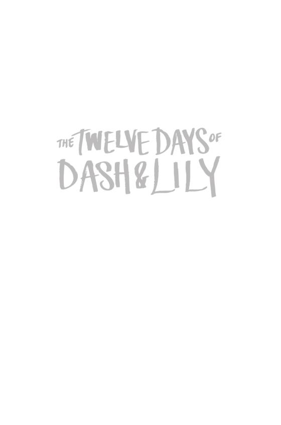 f3e0bcdd The Twelve Days of Dash & Lily - Penguin Random House Education