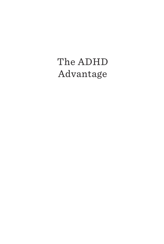 The ADHD Advantage - Penguin Random House Education