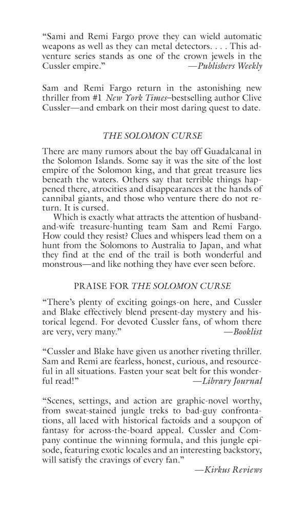 The Solomon Curse - Penguin Random House Retail