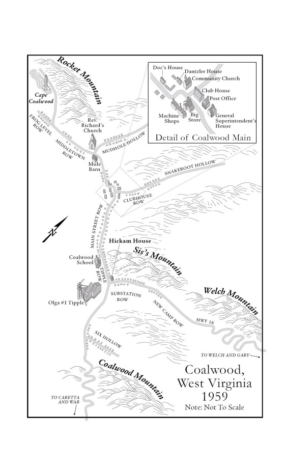 Coalwood West Virginia Map.The Coalwood Way Penguin Random House Common Reads
