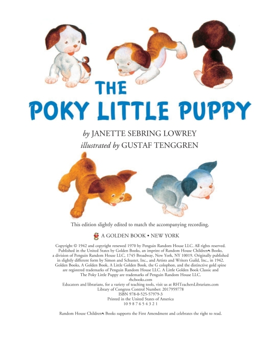 The Poky Little Puppy Book and Vinyl Record | Penguin Random