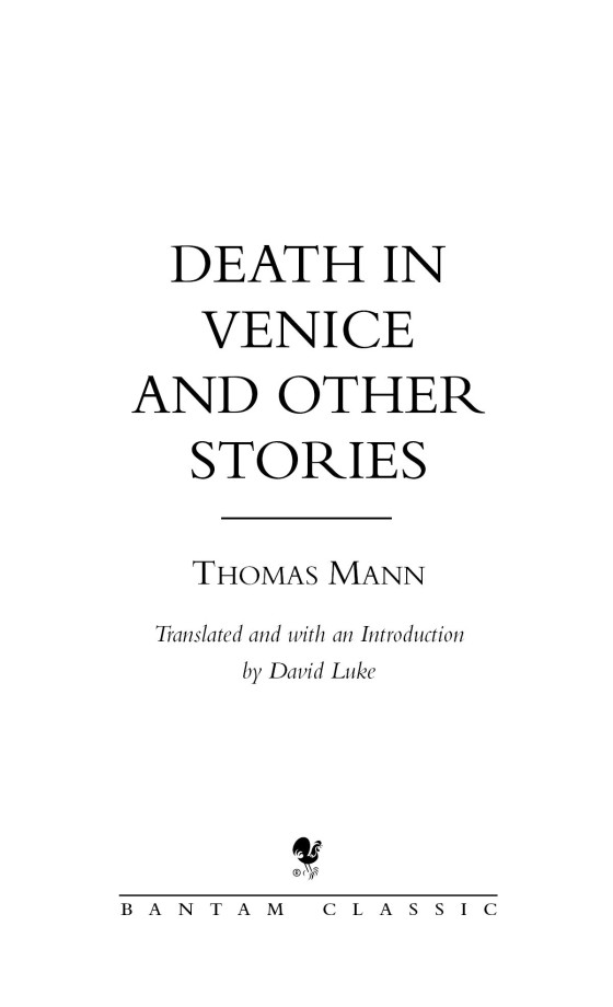 Death In Venice And Other Stories Penguin Random House