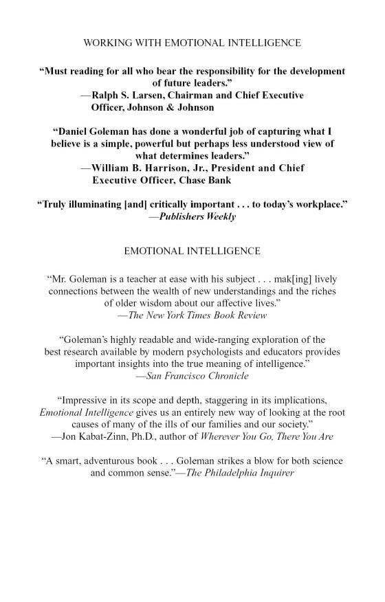 Working with Emotional Intelligence - Penguin Random House