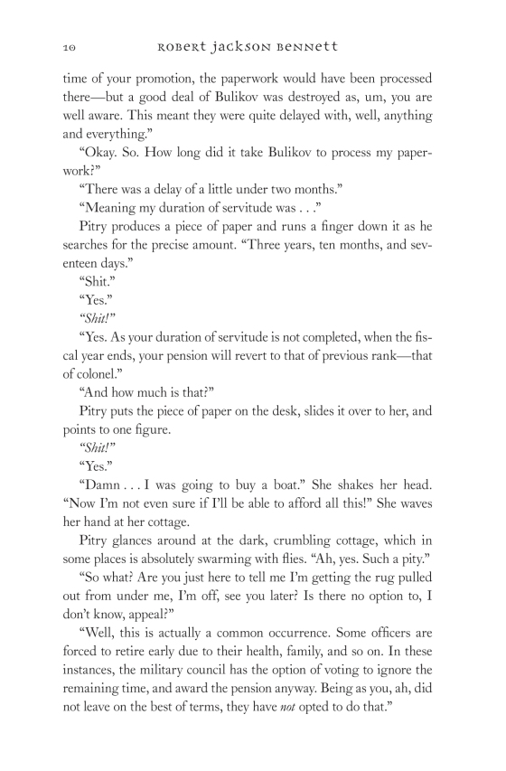 robert jackson bennett city of blades trade paperback