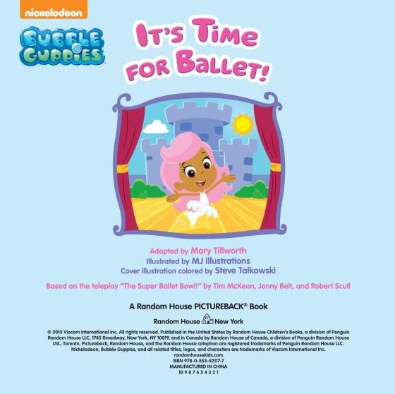 It's Time for Ballet! (Bubble Guppies) - Penguin Random