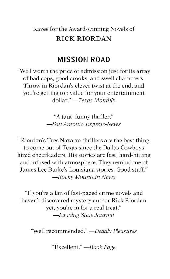 mission road riordan rick
