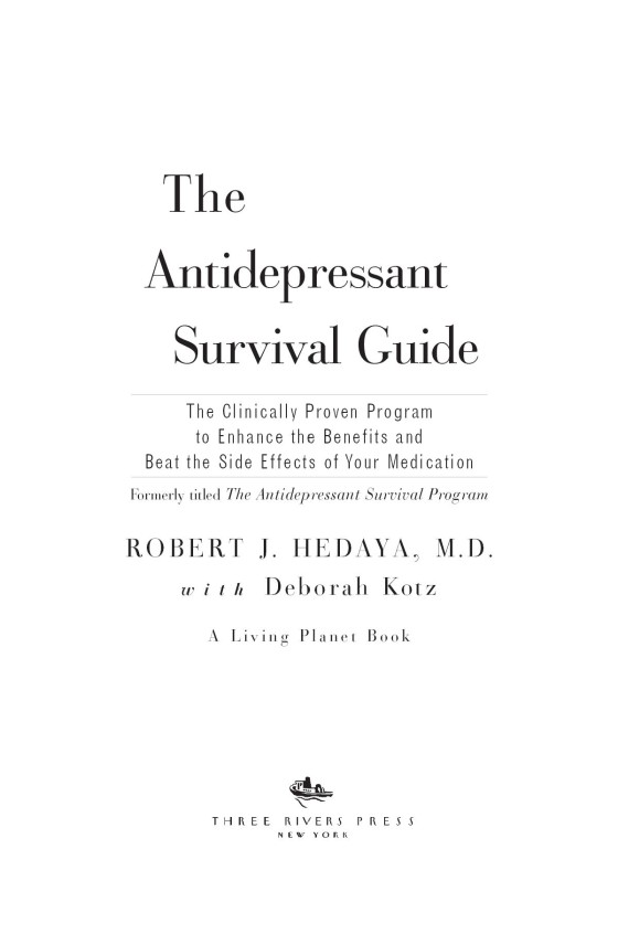 the antidepressant survival guide the clinically proven program to enhance the benefits and beat the side effects of your medication