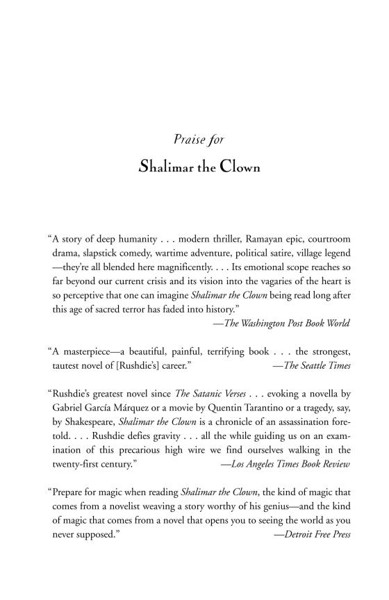 Shalimar the Clown - Penguin Random House Retail