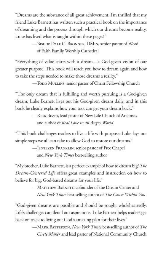 The Dream-Centered Life - Penguin Random House Retail