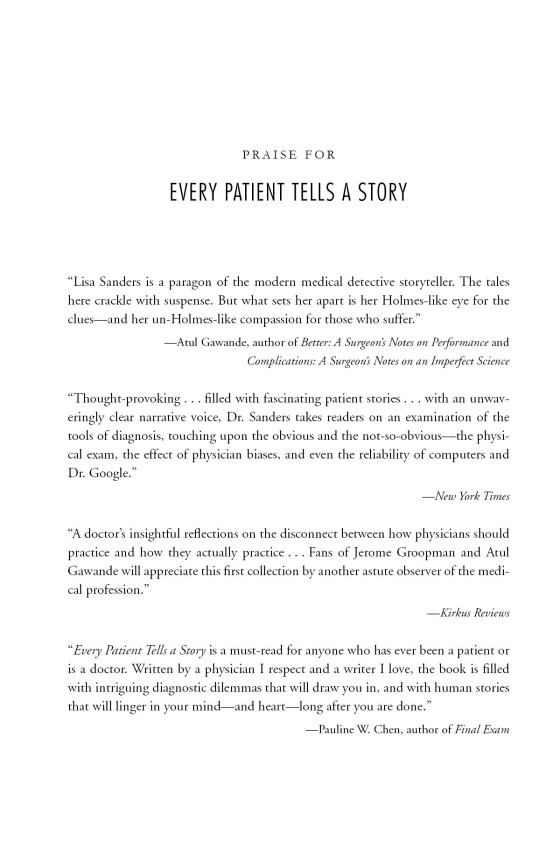 Every Patient Tells A Story Penguin Random House Education