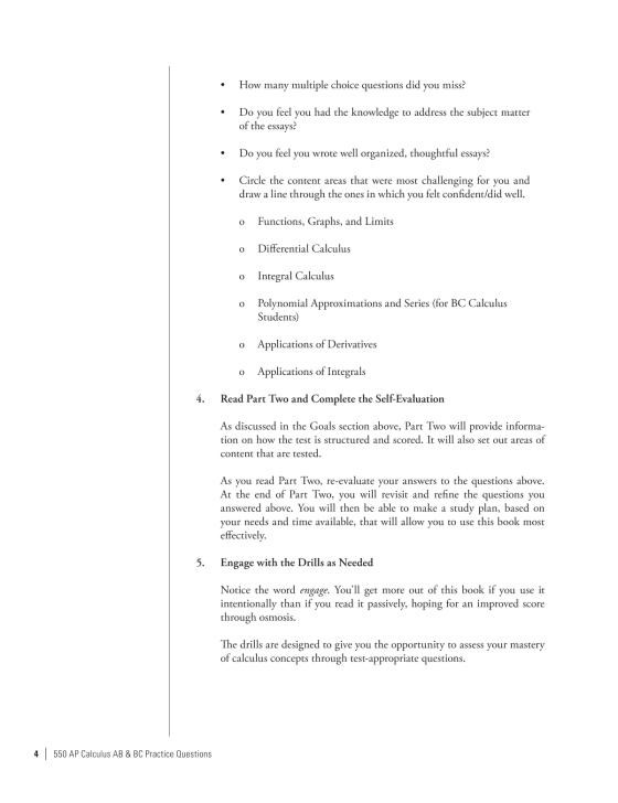 550 AP Calculus AB & BC Practice Questions - The Princeton