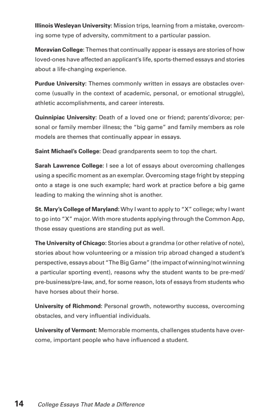 Thesis Essay Examples Sample Page Sample Page Proposal Essays also Paper Essay College Essays That Made A Difference Th Edition  The Princeton  Interesting Essay Topics For High School Students