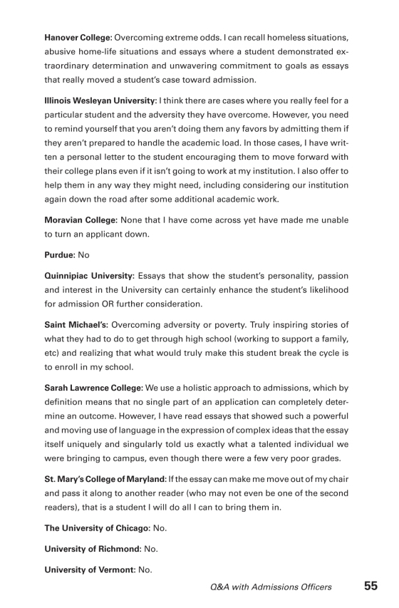 College Essays That Made A Difference Th Edition  The Princeton  Sample Page Sample Page