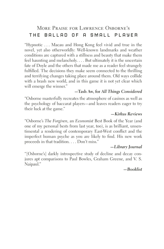 Lawrence osborne the ballad of a small player trade paperback page 1 of 16 fandeluxe Gallery