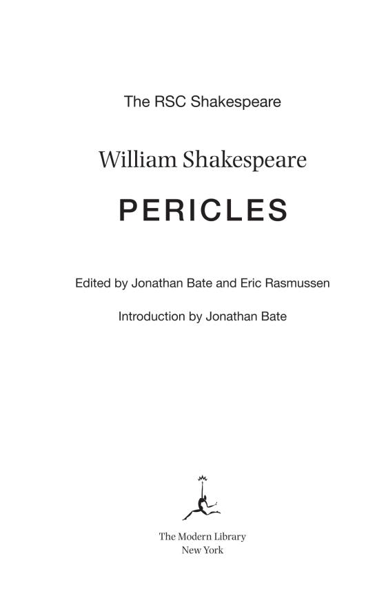 Pericles Penguin Random House Common Reads