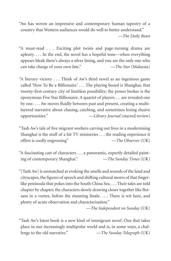 Five Star Billionaire - Penguin Random House Education