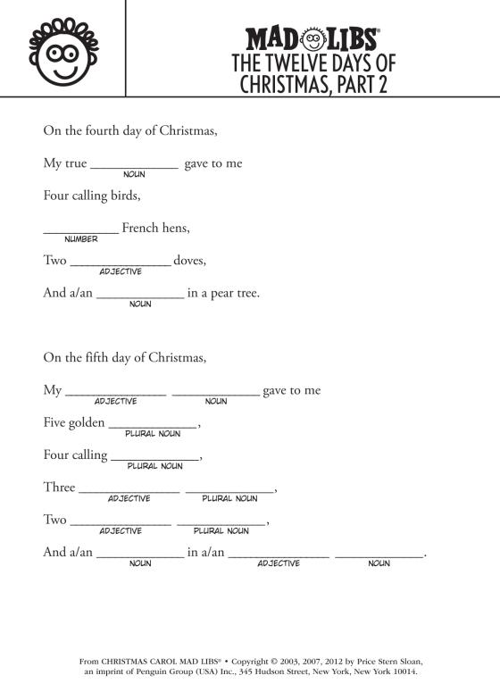 All I Want for Christmas Is Mad Libs | Penguin Random House