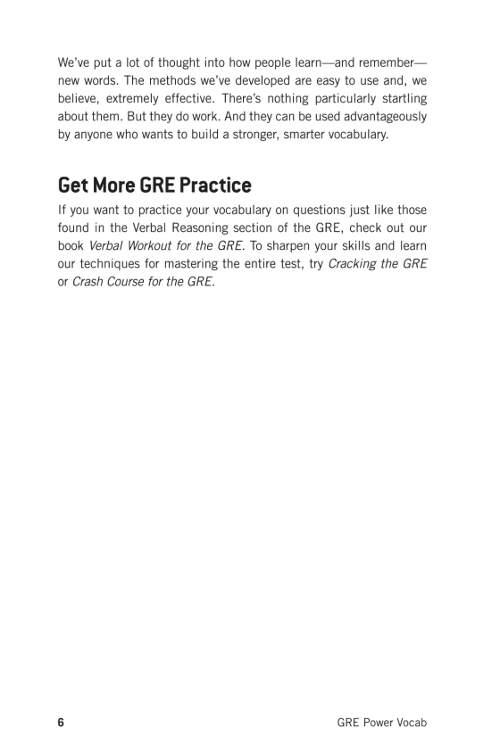 GRE Power Vocab - The Princeton Review | Random House