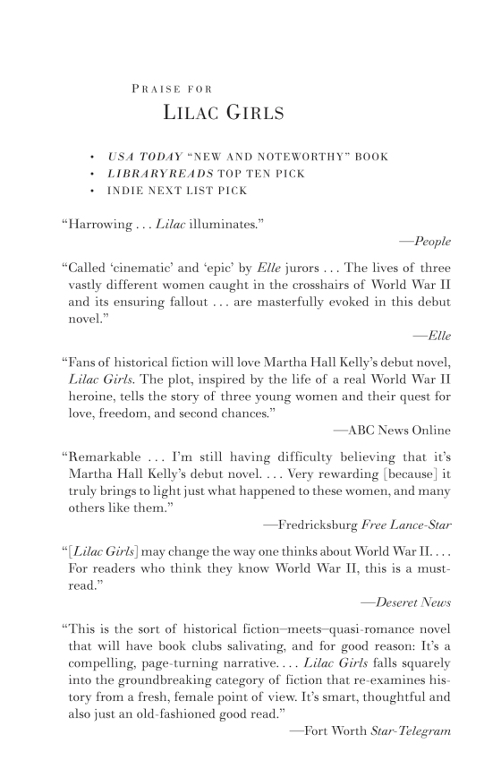 Lilac Girls | Penguin Random House International Sales