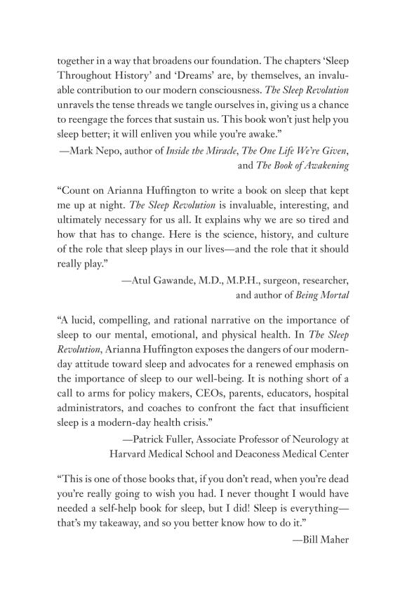 ARIANNA HUFFINGTON - The Sleep Revolution - Trade Paperback