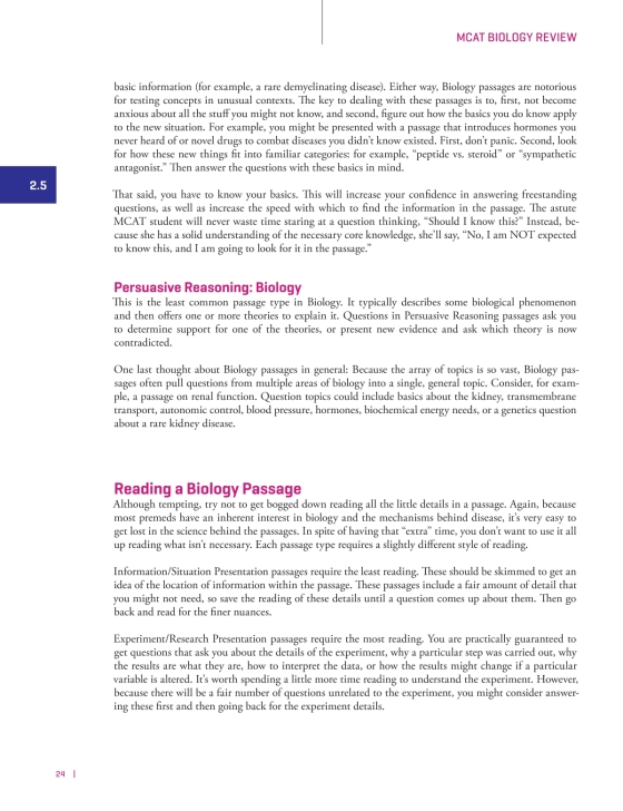 MCAT Biology Review, 2nd Edition - The Princeton Review