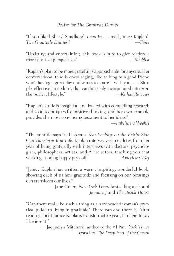 The Gratitude Diaries The Gratitude Diaries Trade Paperback