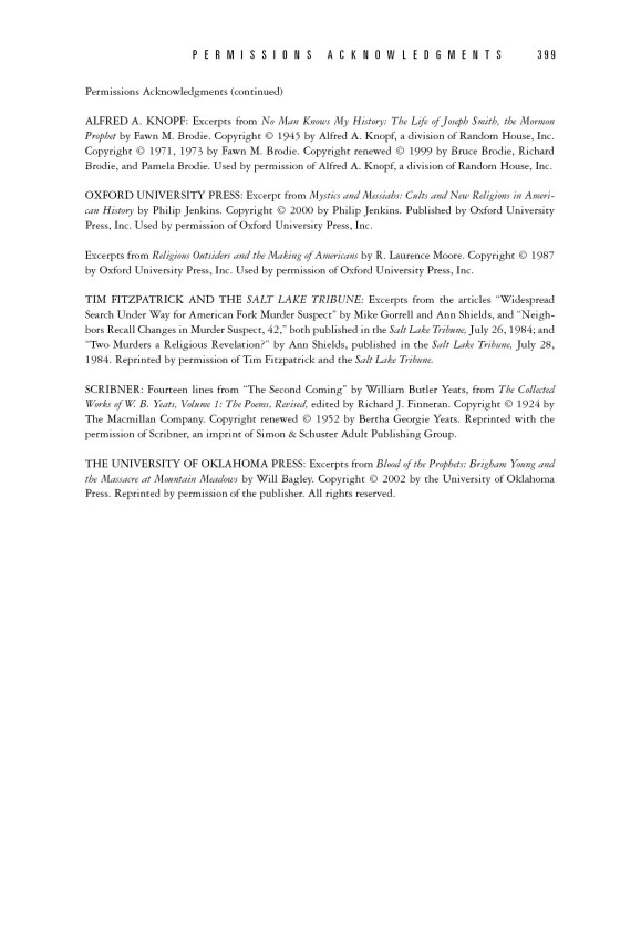 Jon Krakauer Under The Banner Of Heaven Trade Paperback