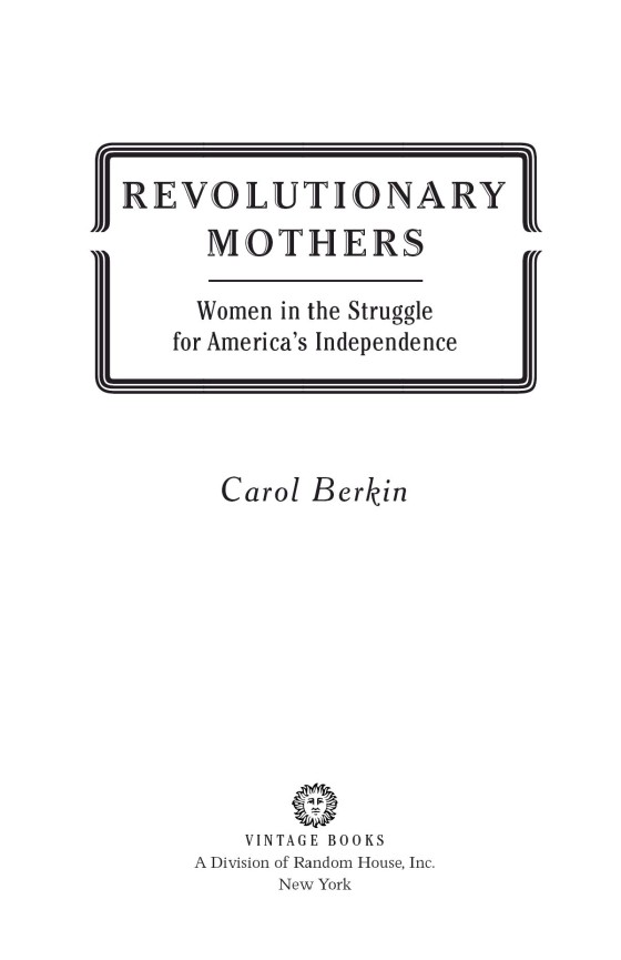 revolutionary mothers carol berkin