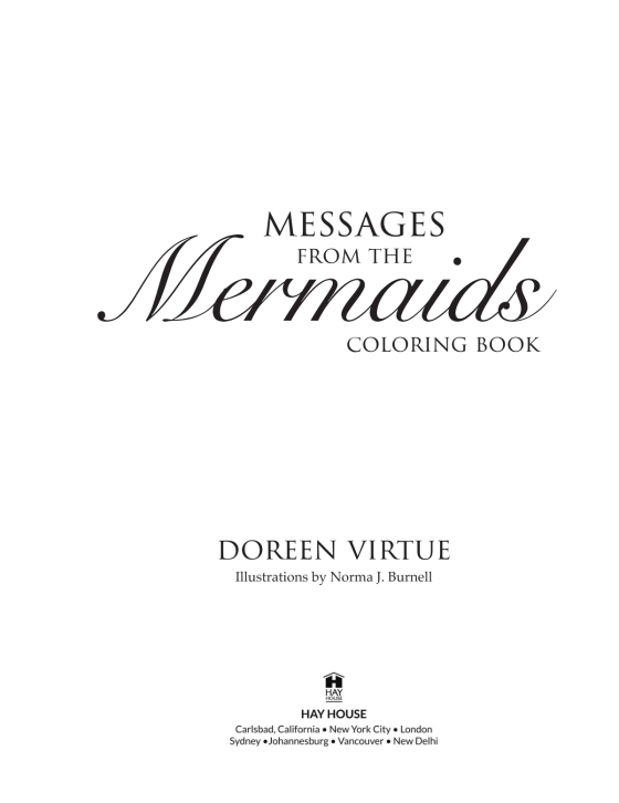 Messages From The Mermaids Coloring Book Penguin Random