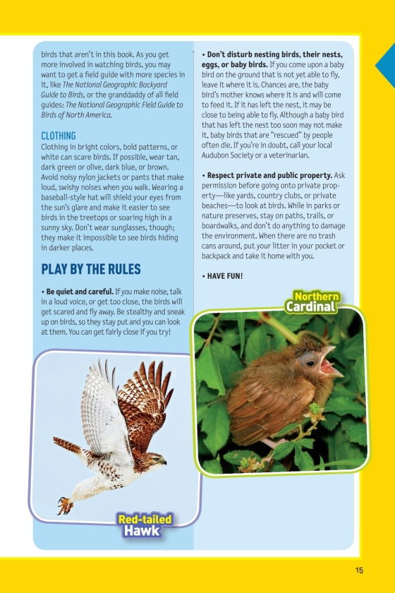 National Geographic Kids Bird Guide Of North America Second Edition